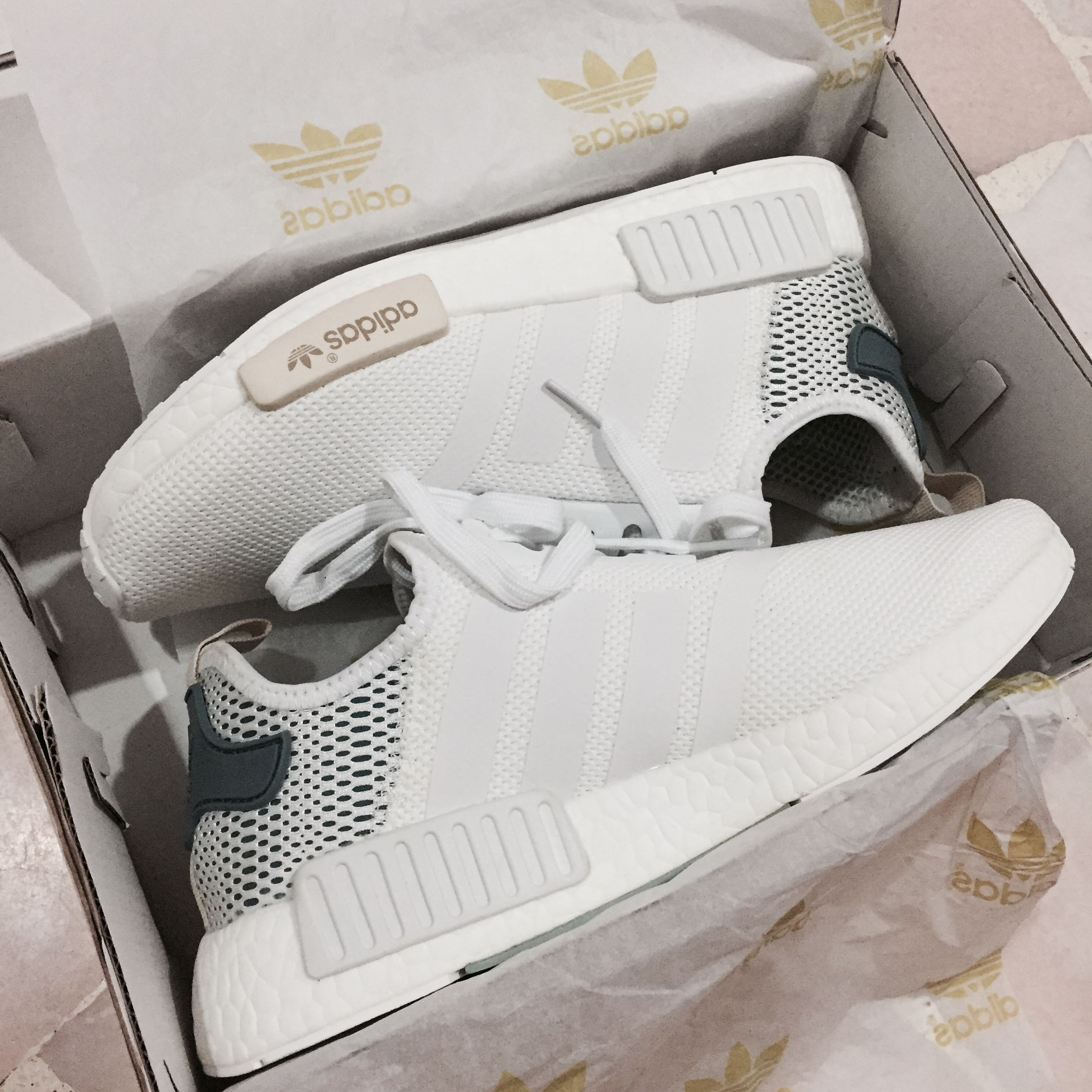 4560a87ecf301 promo  adidas NMD runner PK white x tactile green sneakers