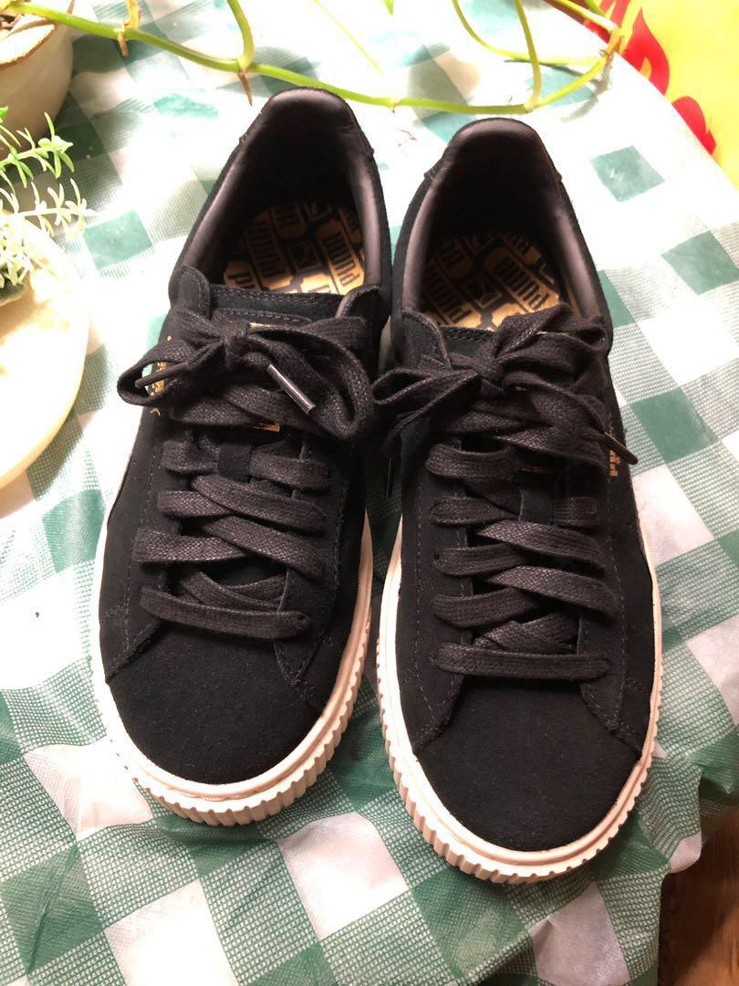 Puma x fenty 蕾哈娜 鬆糕鞋 黑色增高運動鞋 23cm us5