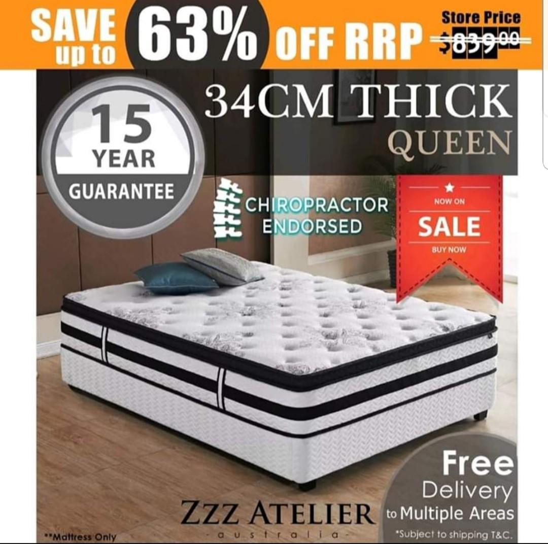 QUEEN/KING/SINGLE/DOUBLE BRAND MATTRESSES FREE DELIVERY AU!