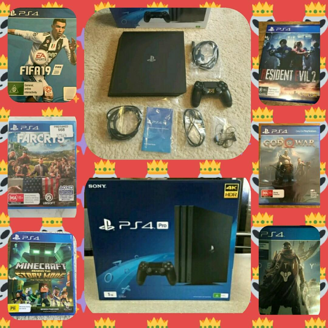 QUICK SALE- Brand NEW Playstation 4 PRO 1TB + 6 games