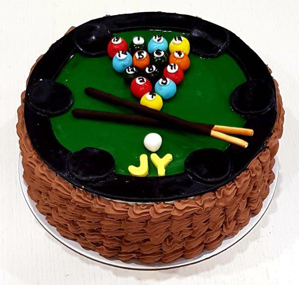 Admirable Snooker Table Birthday Cake Food Drinks Baked Goods On Carousell Personalised Birthday Cards Akebfashionlily Jamesorg