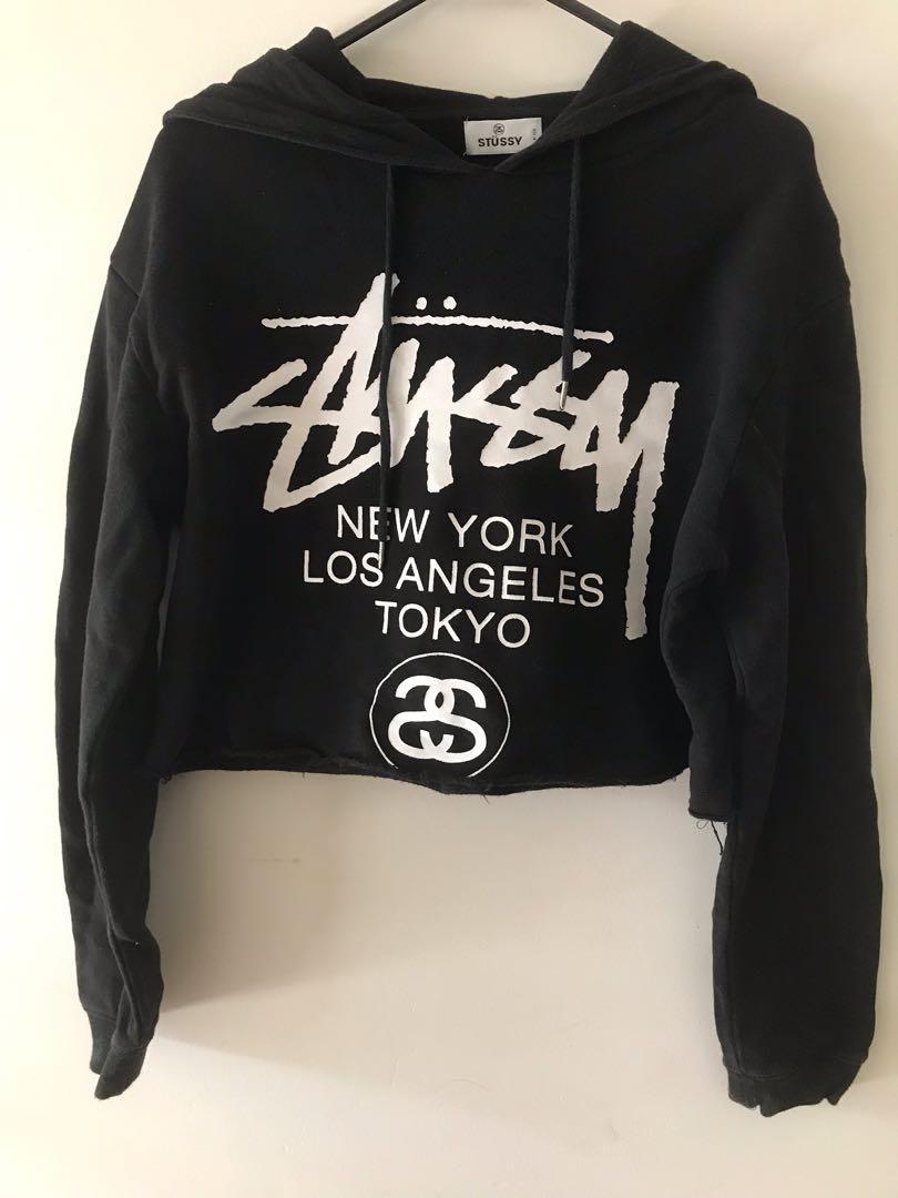 Stussy cropped hoodie