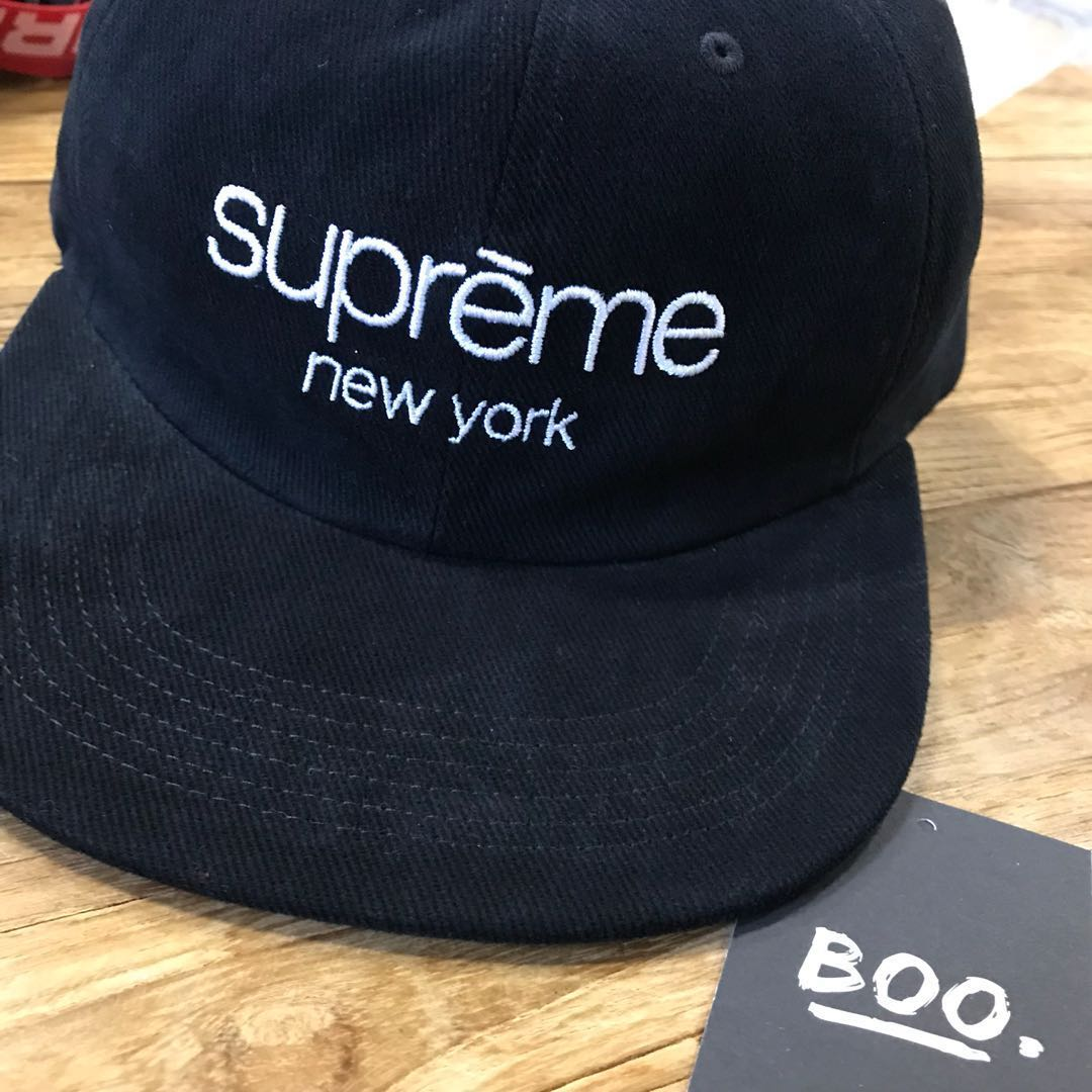 22b6966f Supreme SS18 Classic Logo 6 Panel, Men's Fashion, Accessories, Caps ...