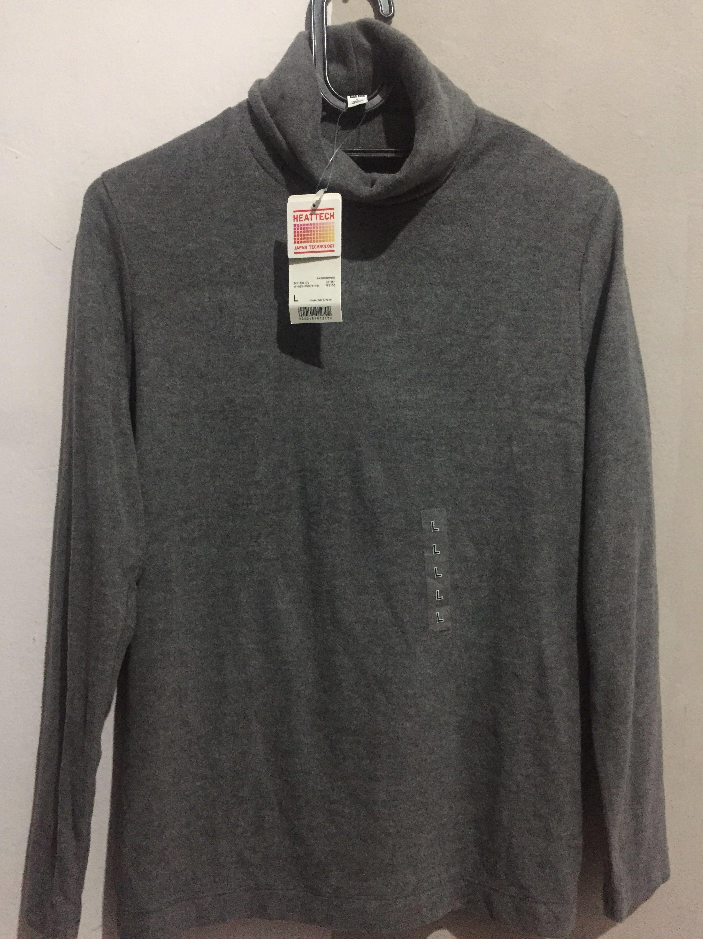 UNIQLO T shirt heattech fleece turtle neck untuk cewek