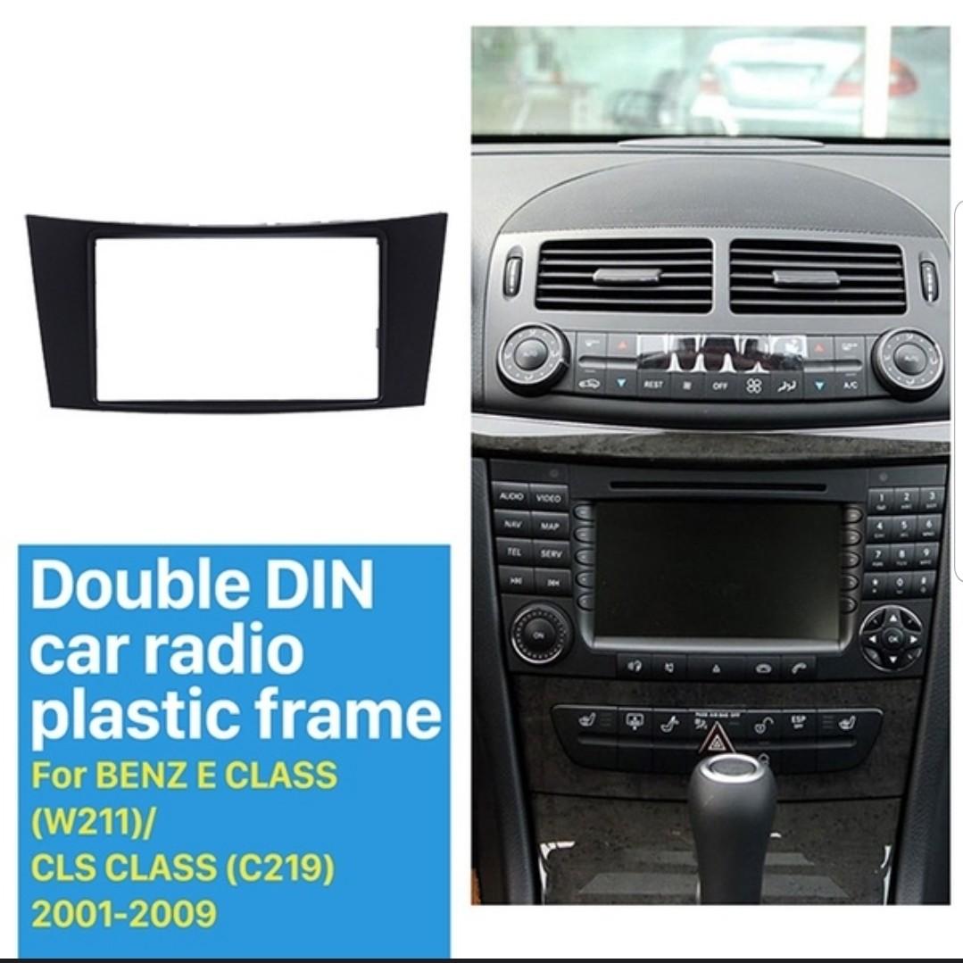 (VINTAGE EDITION) Double Din Car Dash Kit DVD Panel for 2001-2009 BENZ E  CLASS (W211)/ CLS CLASS (C219), 2DIN