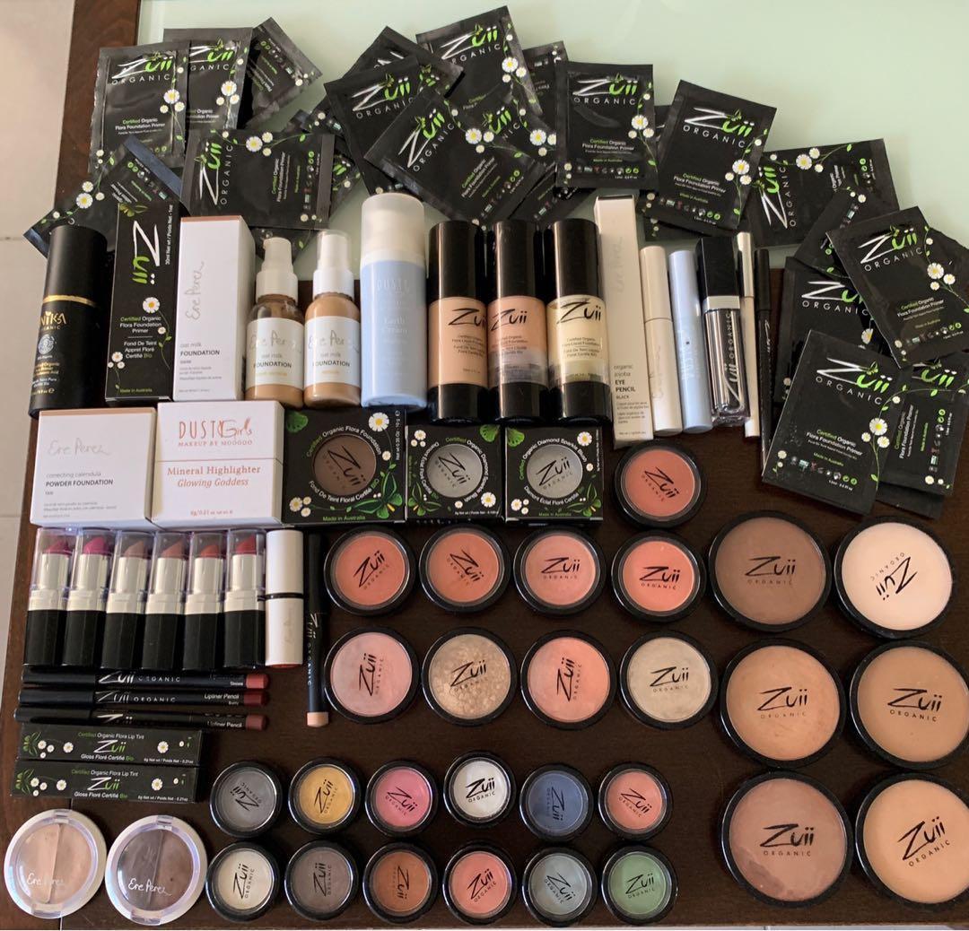 Zuii organic, Ere Perez, Inika + dusty girls natural makeup new and ex makeup kit items