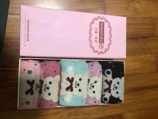 Cute Teddy Bear Fashion Socks
