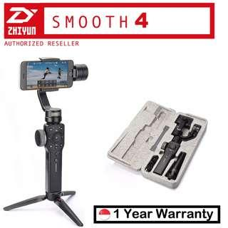 🚚 Zhiyun Smooth 4 Black Smartphone Gimbal- 1 Year Singapore Warranty