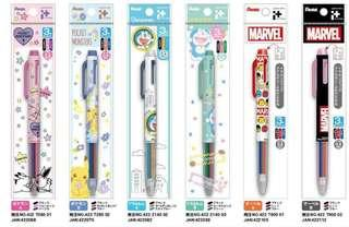 🚚 Pentel Japan Pokemon/ Doraemon / Marvel iplus multi pen