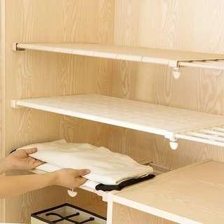 衣櫃 廚櫃 分層隔板 可申縮 74-135cm得一個全新