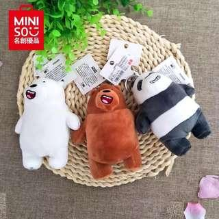 🚚 AUTHENTIC MINISO WE BARE BEARS KEYCHAIN; FREE SHIPPING!😍