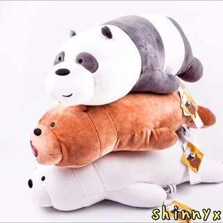 🚚 【INSTOCKS!】53CM AUTHENTIC MINISO WE BARE BEARS IN LYING POSITION; FREE DELIVERY! 😍