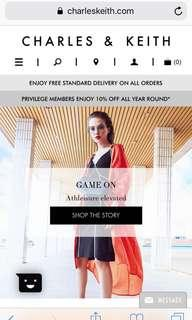 Charles and Keith vouchers