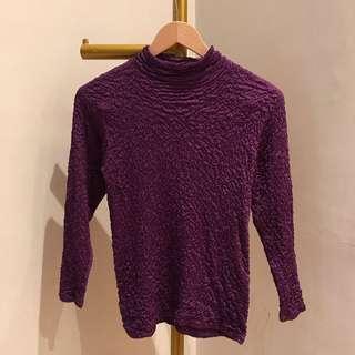 Purple turtleneck longsleeve