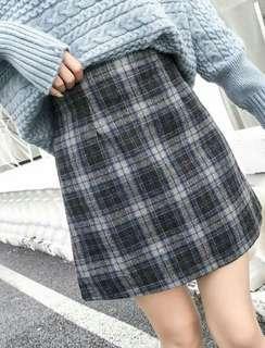 🚚 Uzzlang Checkered Plaid Skirt