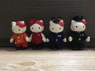 Hello kitty 地鐵工作人員figure 公仔