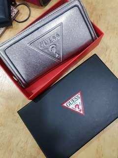 Guess Wallet in blinky sliver