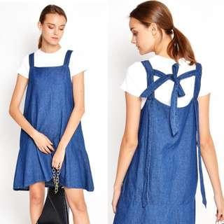 🚚 Love & Bravery - Soinne Denim Overall Dress