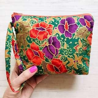 🚚 Batik Cosmetic Pouch Handmade in Singapore