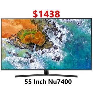 Samsung 55 inch UHD 4k Smart Tv NU7400 7 series Dynamic Crystal Colour