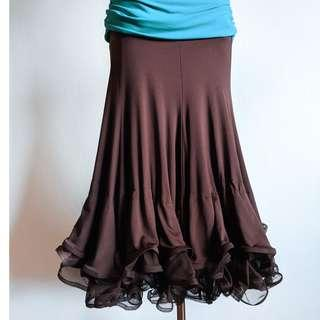 Latin / Ballroom Dance Skirt - Brown