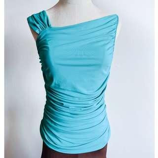🚚 Latin / Ballroom Dance Top - Asymmetric Neckline