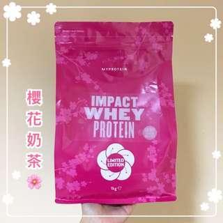 🚚 全新!Myprotein 乳清蛋白粉 櫻花奶茶口味 1kg