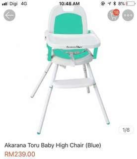 Akarana convertible foldable high chair