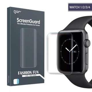 🚚 《Gor Apple Watch》3D曲面軟性保護膜 38mm 42mm 40mm 44mm 滿版 PET 曲面包覆 螢幕貼