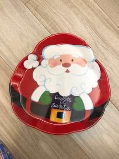 "Santas🎅🏻 Cookies 14"" Plastic Party Tray"