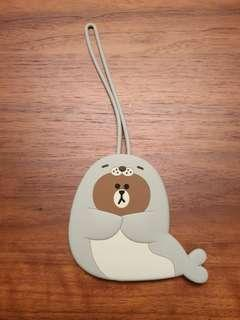 Line Friends Brown Bear Luggage Tag