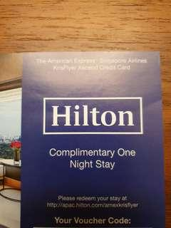 One Night Stay in Hilton Asia Pacific Hotels