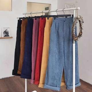 Corduroy straight vintage pants