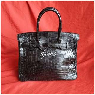 🛑Hermes Birkin 30cm All Black Limited Bag