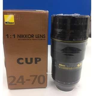 NIKON 原廠鏡頭保溫杯 NIKKOR LENS 24-70mm 創意鏡頭杯 造型杯 保溫瓶