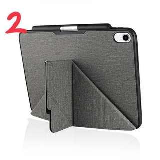 🚚 iPad Pro 2018 Amos 11吋 多角度折疊布紋皮套(有筆槽) 雅痞灰