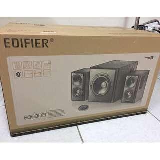 EDIFIER S360DB 全功能HIFI 2.1音箱  全新 保固一年 免抽瞎皮1折卷 直接幫你折1000 只有一件