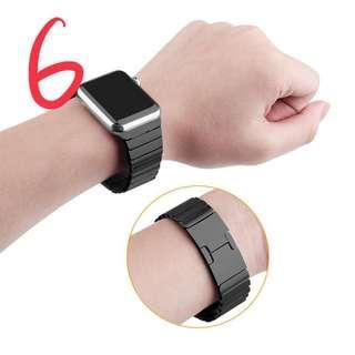 🚚 近全新)Lululook的Apple Watch不鏽鋼錶鍊帶 42或44公釐 黑色/銀色