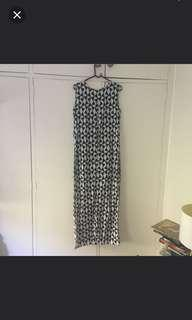 Black White Maxi Dress