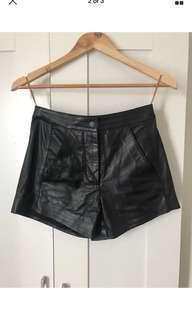 Manning Cartell Leather shorts size 6
