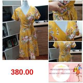 New! yellow floral dress