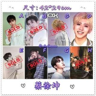 [特價] 蔡徐坤 - A3壓紋海報 ( 散賣 )