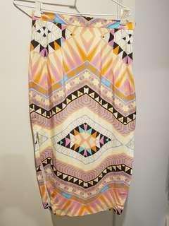 Kookai Aztec Midi Skirt