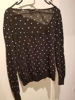Black White Spot Revival Jumper Knit