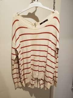 Red White Stripe Knit