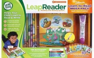 🚚 LeapFrog Leapreader System Learn to Read 10 Book Mega Pack-