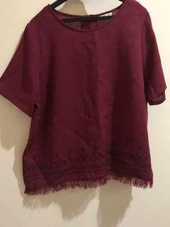 Maroon Top blouse import
