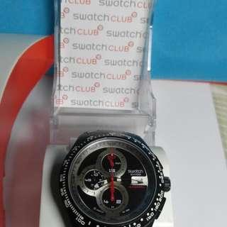 Jam Tangan Pria SWATCH Right Track SVGB400-1 Chronograph Automatic - Authentic Swiss Made