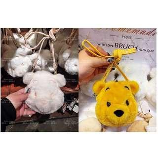 【現貨🌟秒出貨】日本🇯🇵東京🗼迪士尼連線代購🏰 小熊維尼小包包 白色小熊維尼 冬季限定 卡包 零錢包
