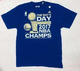 🚚 NBA T恤 金州勇士隊短T adidas製造 冠軍球員版 遊行T